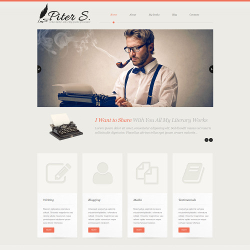 Piter S. - WordPress Template based on Bootstrap