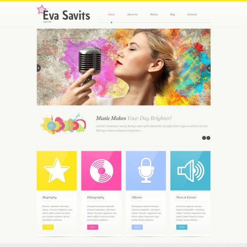 Eva Savits - WordPress Template based on Bootstrap