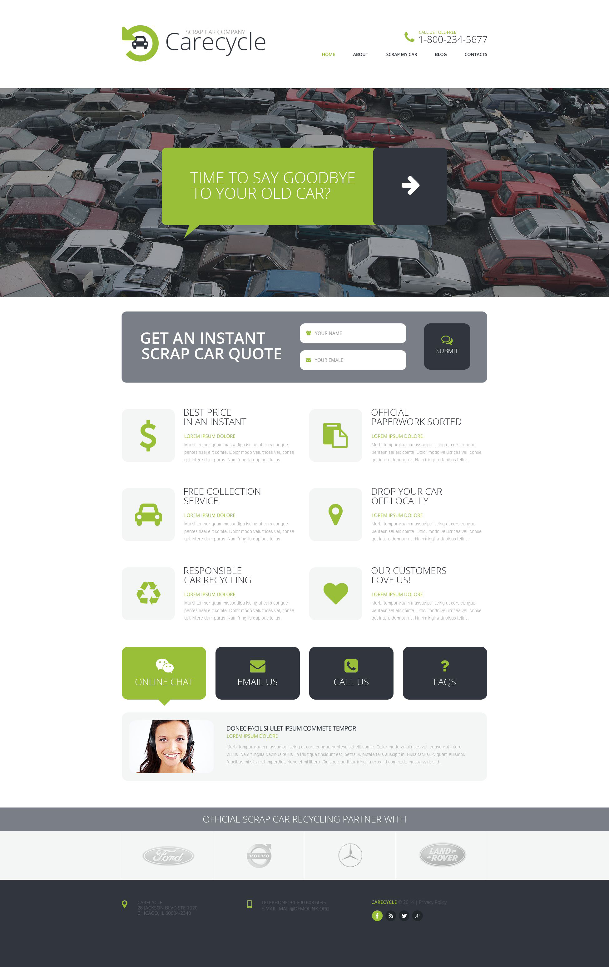 Plantilla Web #51925 para Sitio de Depósito de chatarra de coches