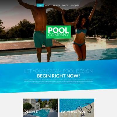 Swimming Pool Website Design pool website design Pool Cleaning Website Templates Templatemonster