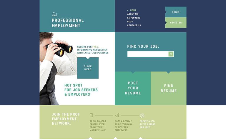 Professional Employment Joomla Template