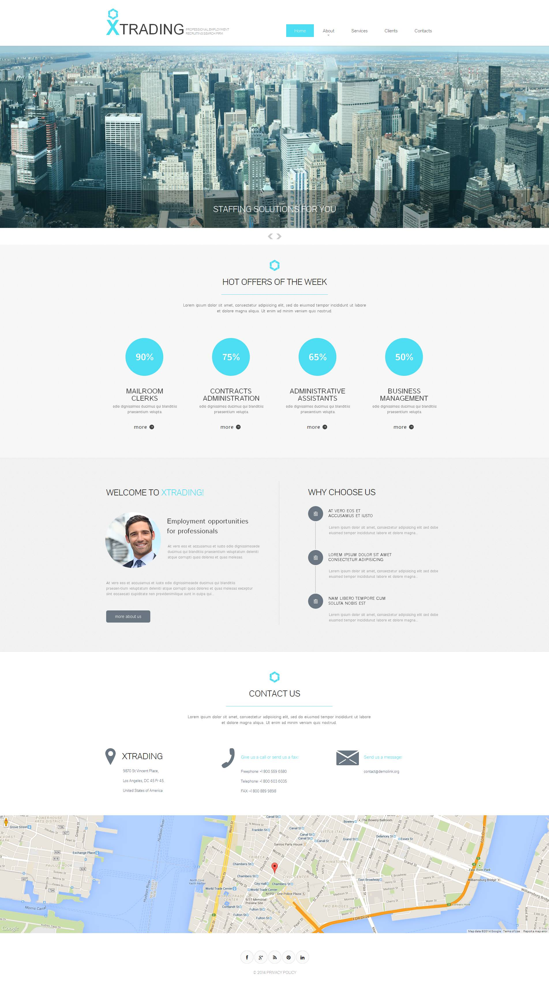 Public Relations Moto CMS HTML Template