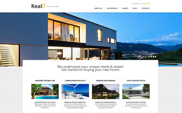 Real Estate Agency Responsive WordPress Theme #51989