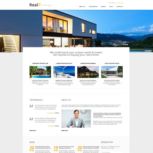 Real7 - WordPress Template based on Bootstrap