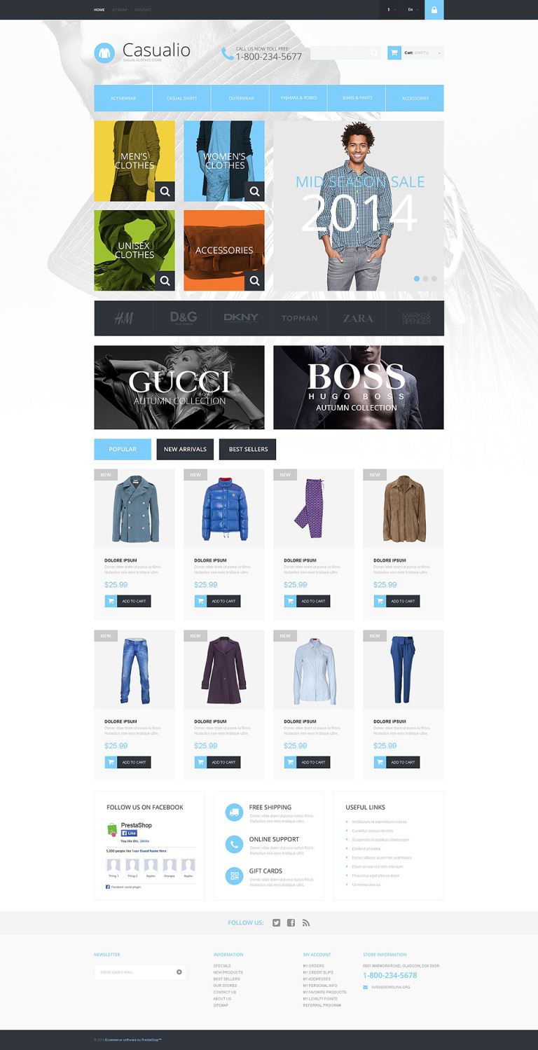 Refined Clothing PrestaShop Theme New Screenshots BIG