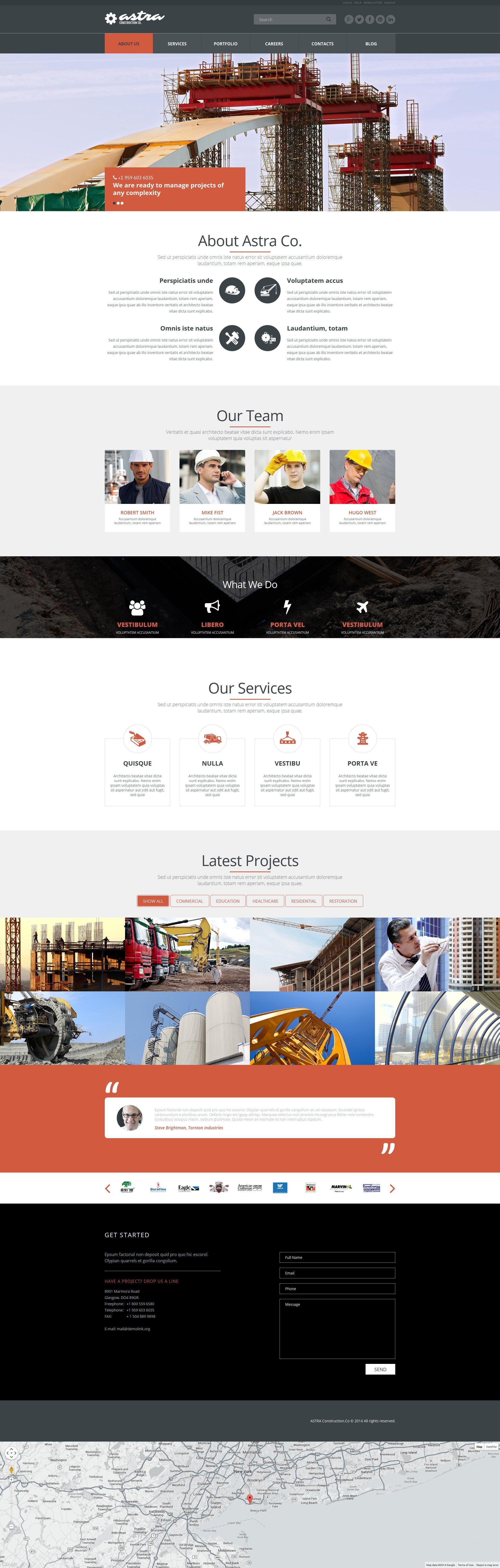 Reliable Building Company Joomla Template - screenshot