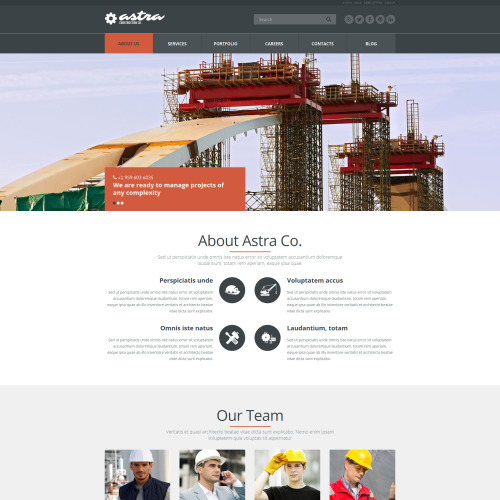 Astra - Joomla! Template based on Bootstrap