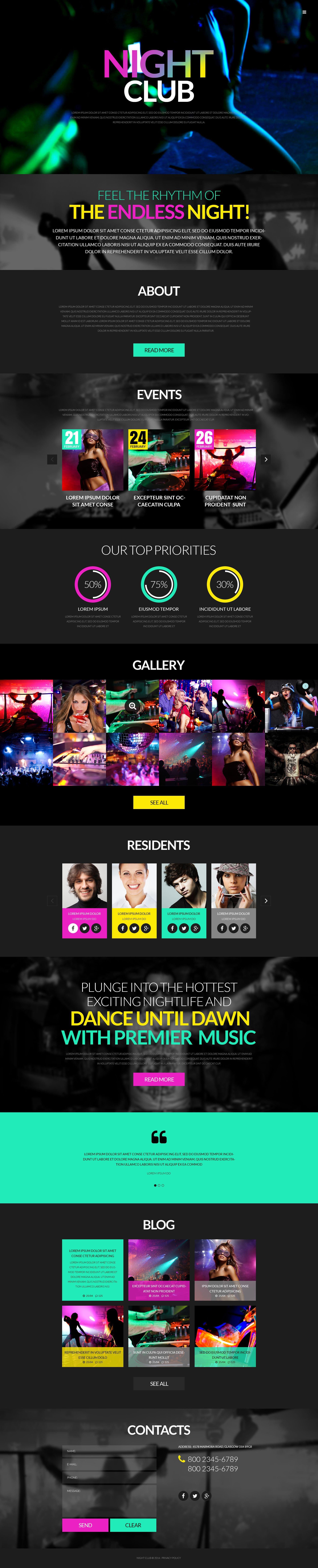 Responsivt Party WordPress-tema #51986 - skärmbild