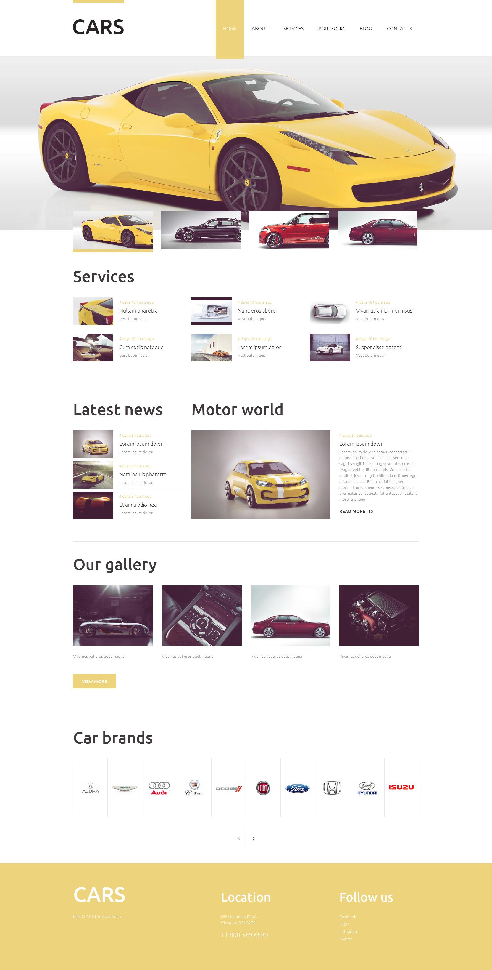 """Responzivní Drupal šablona """"Vehicles Business"""" #51949"""