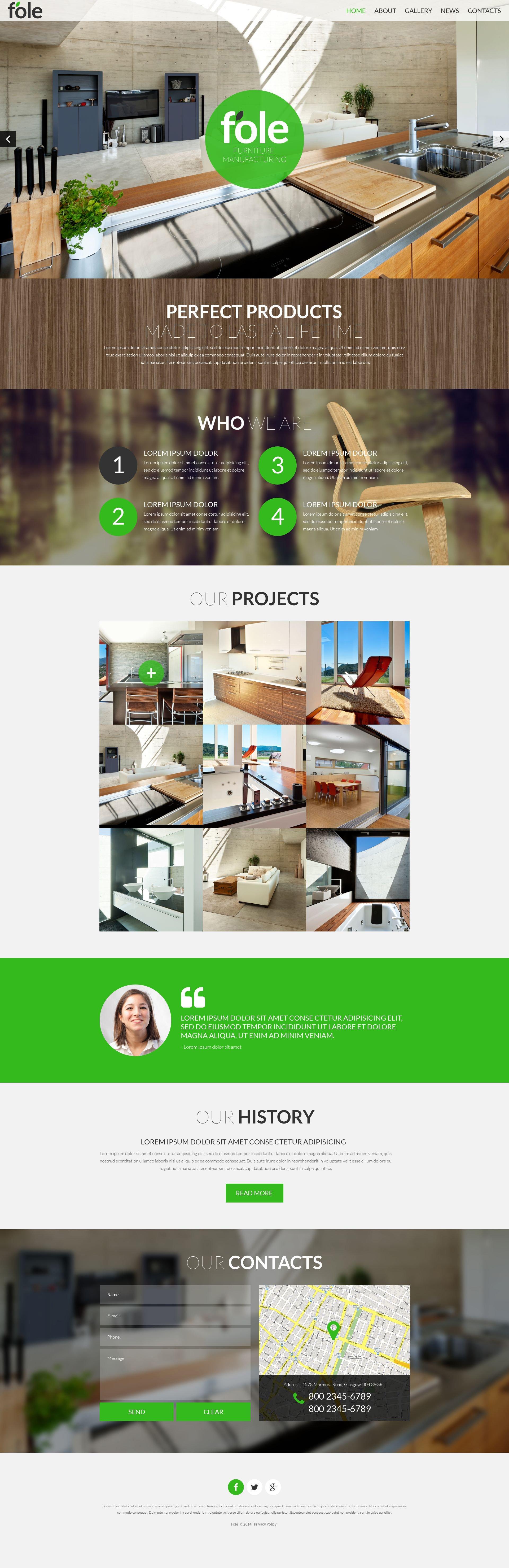Reszponzív Bútor témakörű Weboldal sablon 51901 - képernyőkép