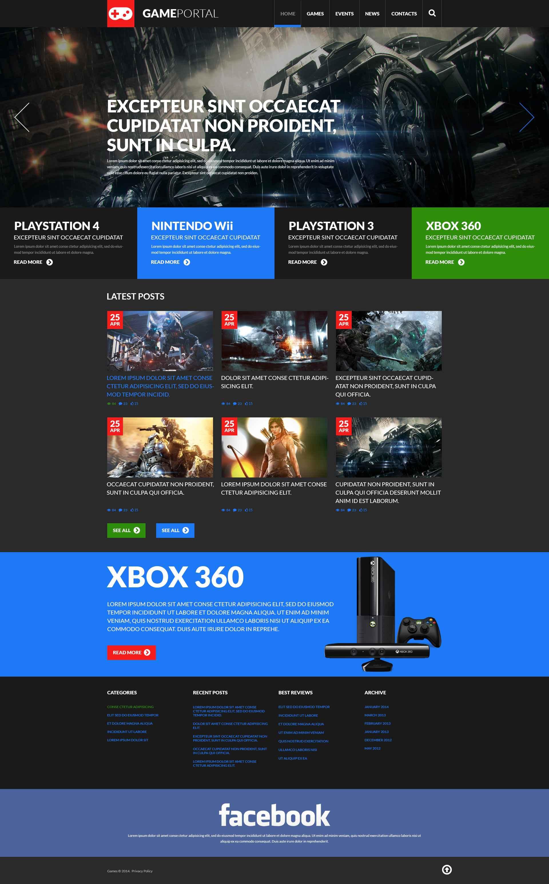 Reszponzív Gaming Fan Board WordPress sablon 51908 - képernyőkép