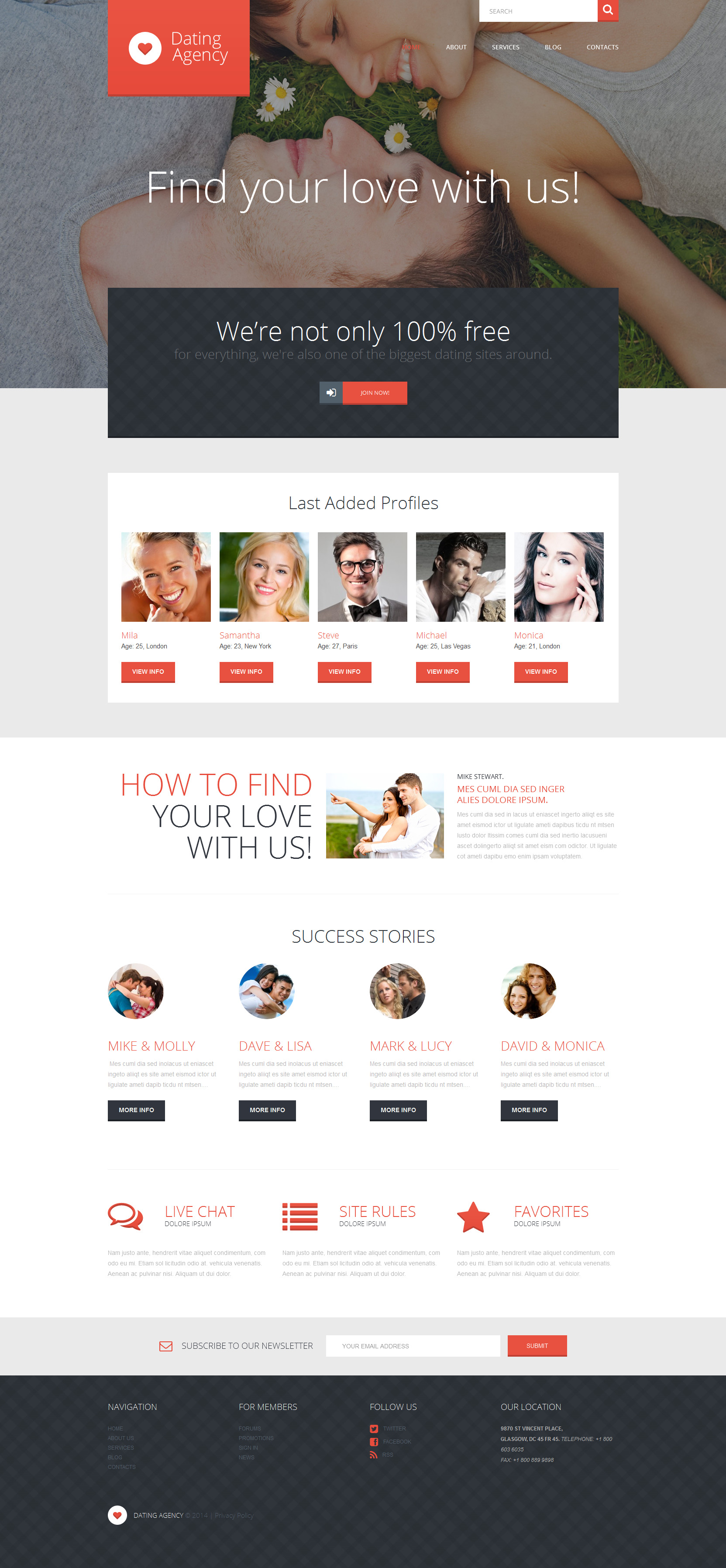 WordPress sablon társkereső oldal