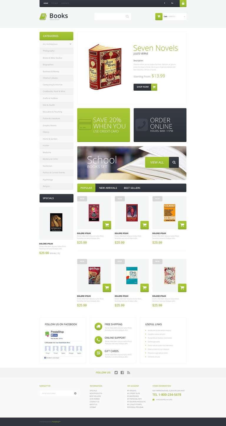 Selling Books PrestaShop Theme New Screenshots BIG