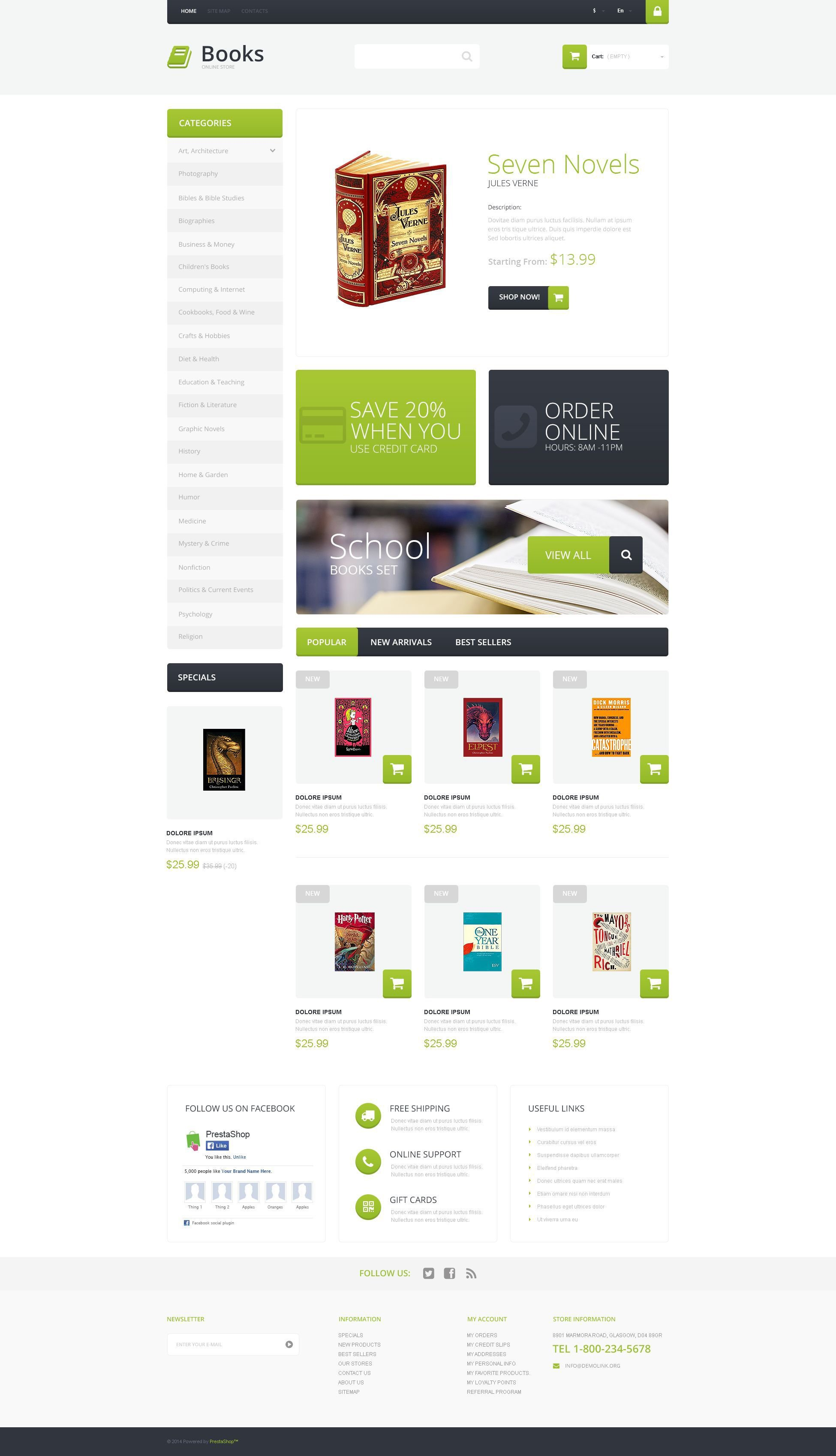 Selling Books PrestaShop Theme