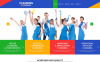 """""""Services de nettoyage pour les bureaux"""" thème WordPress adaptatif New Screenshots BIG"""