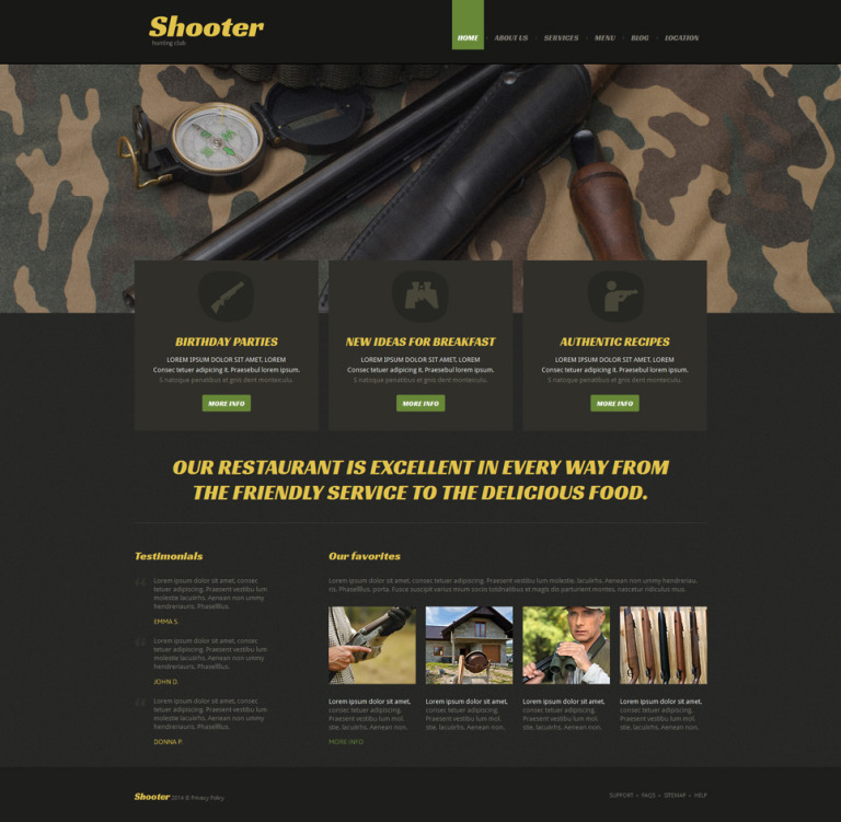Shooting Responsive Joomla Template New Screenshots BIG