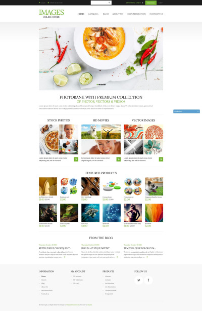 Responsives Shopify Theme für Stockfoto
