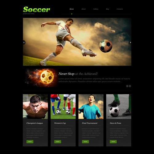 Soccer - WordPress Template based on Bootstrap