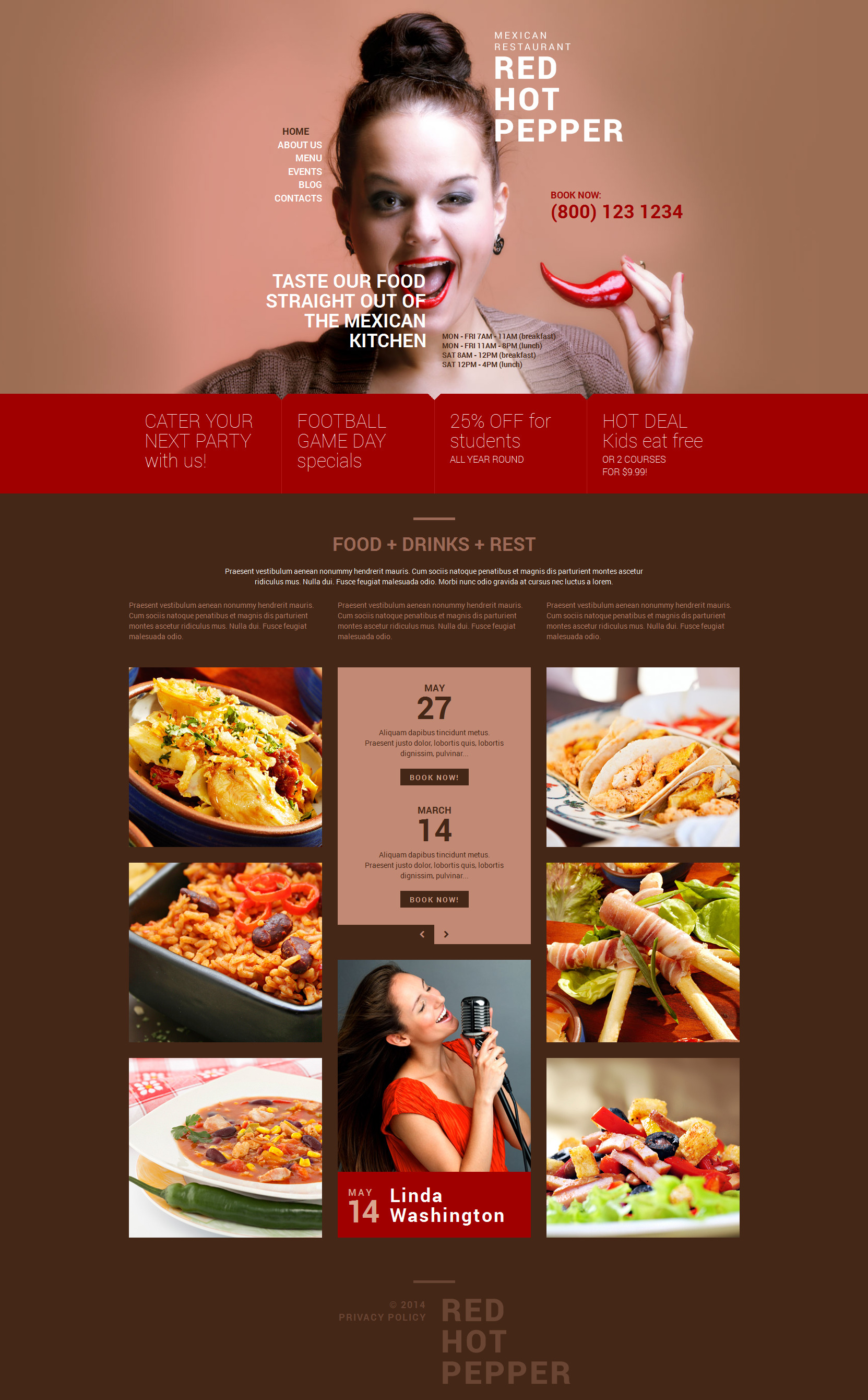 Spicy Mexican Food WordPress Theme - screenshot