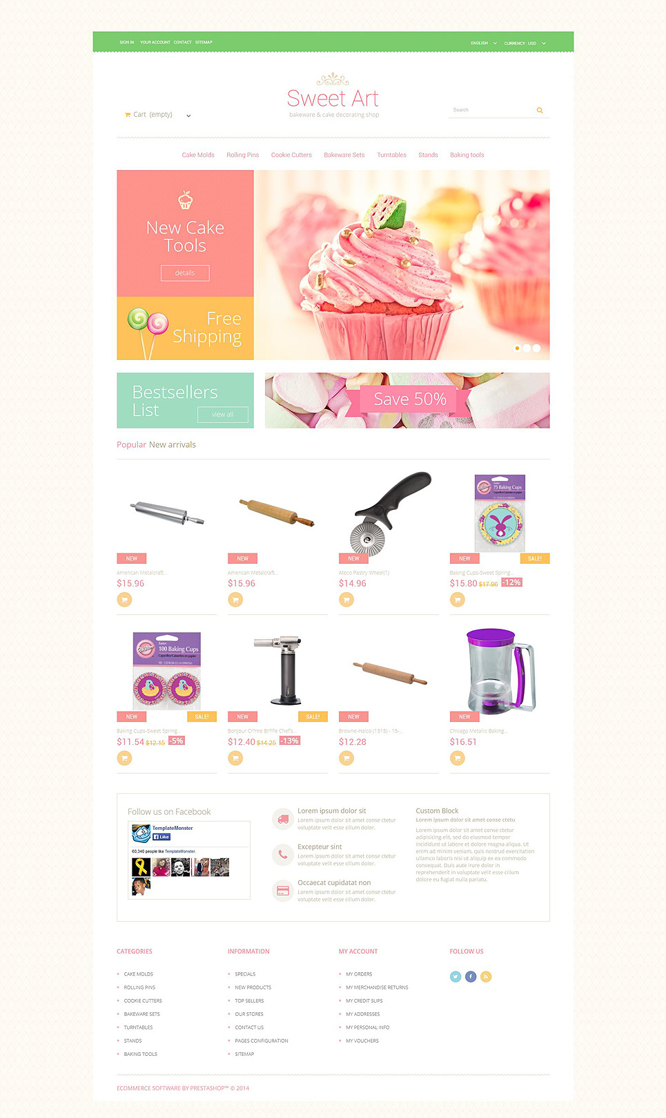 Sweet Tooth PrestaShop Theme New Screenshots BIG