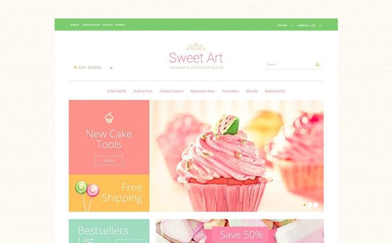 Sweet Tooth PrestaShop Theme