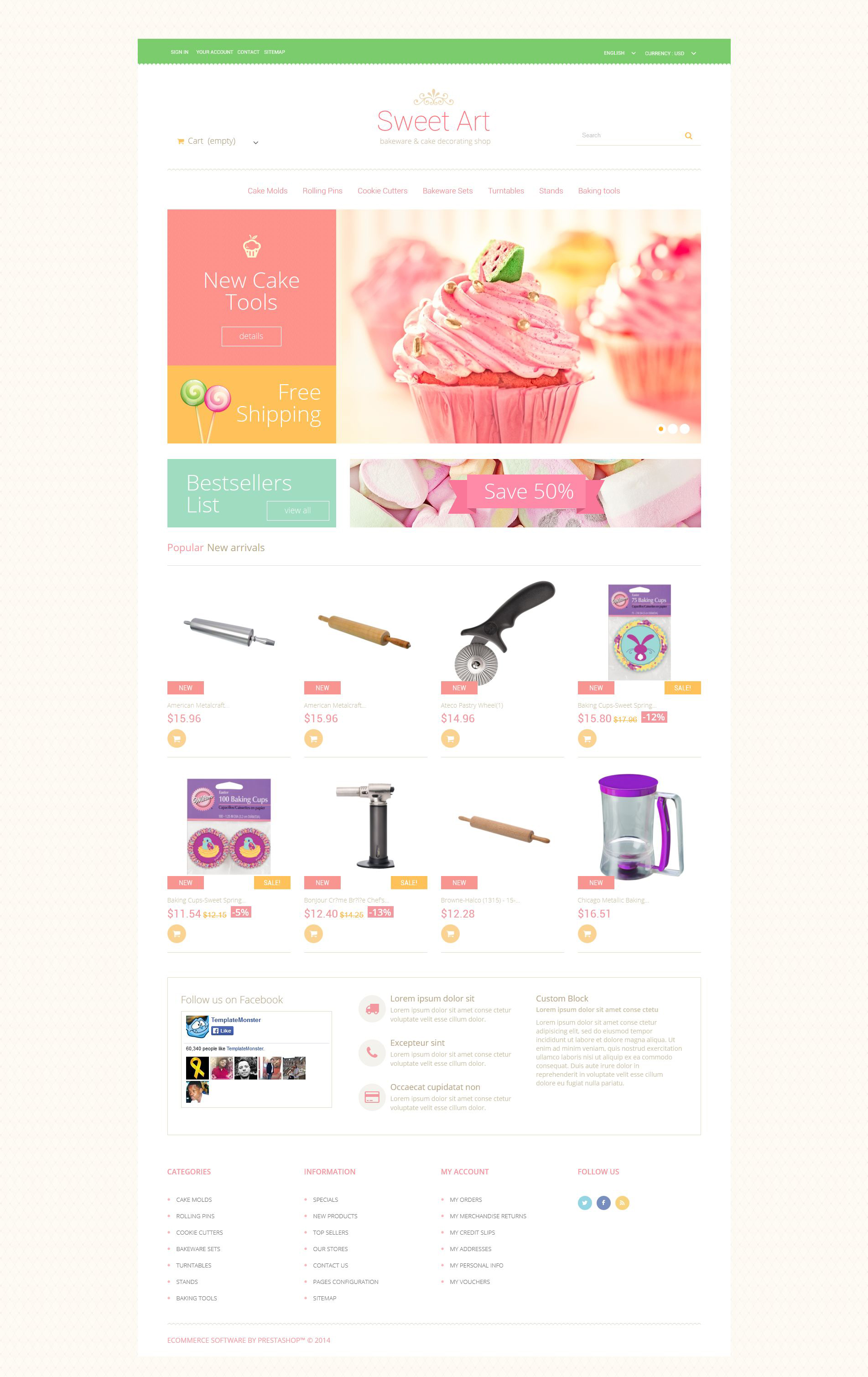 Sweet Tooth PrestaShop Theme