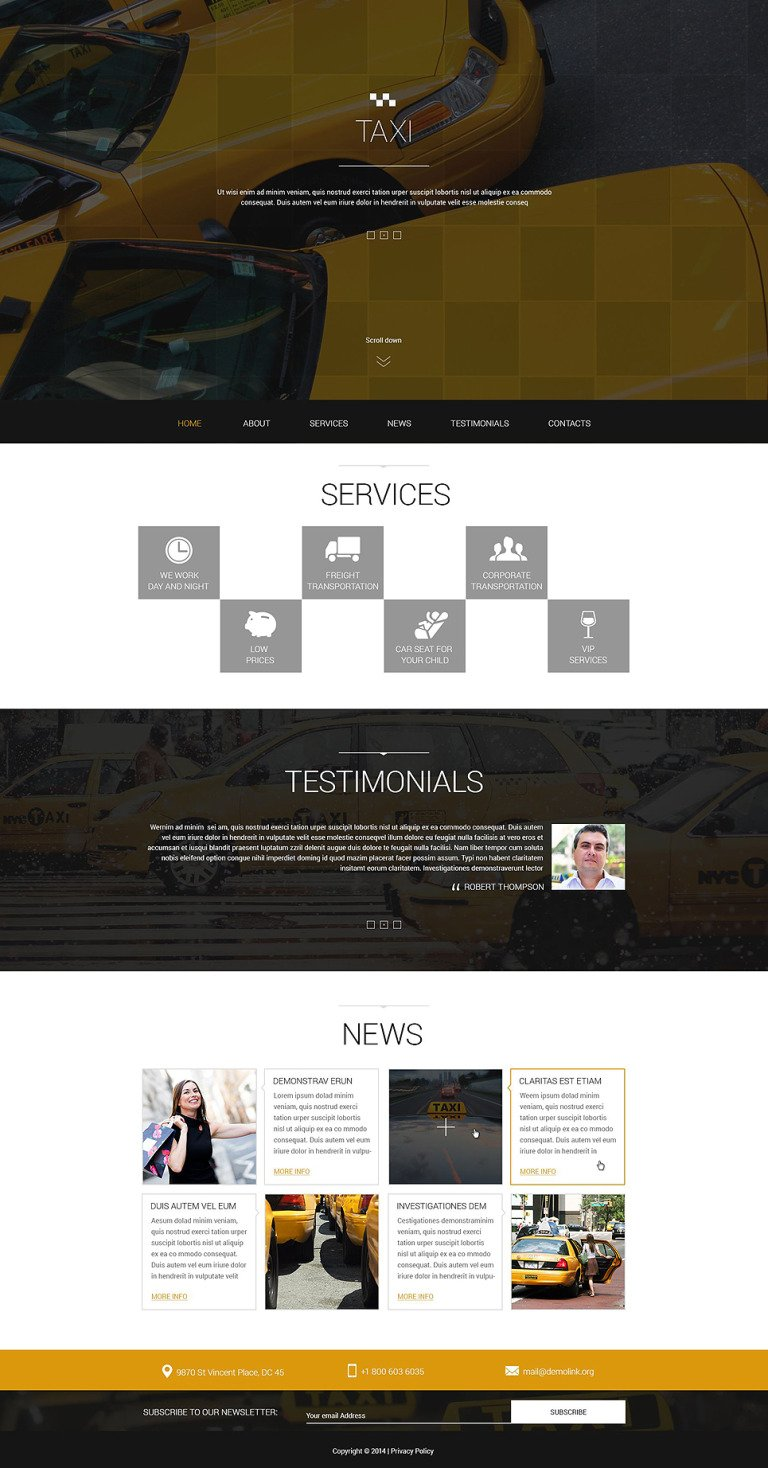 Taxis in Big Cities Joomla Template New Screenshots BIG