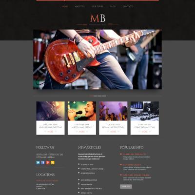 Plantillas para Sitios de Grupos Musicales   TemplateMonster