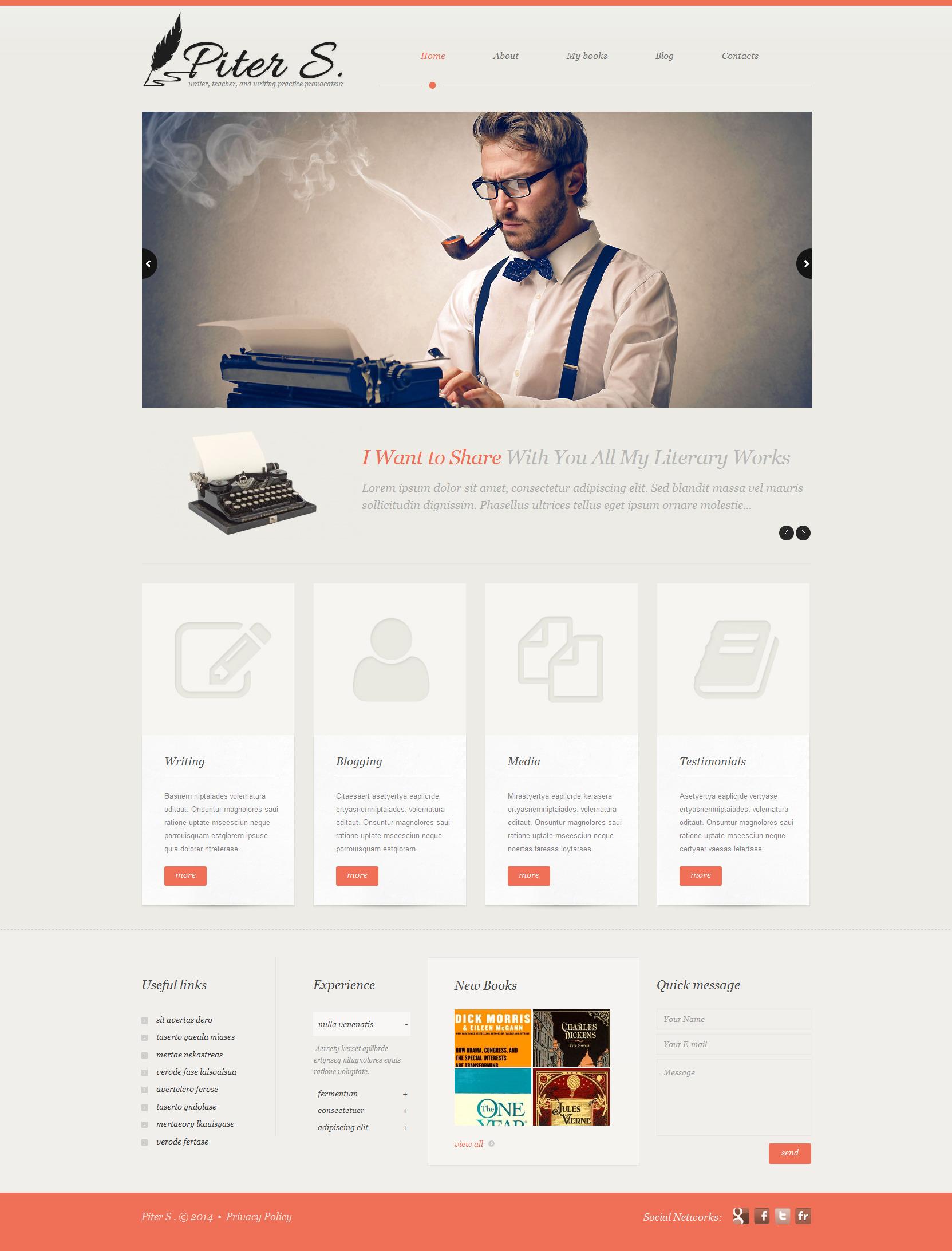 Tema De WordPress Responsive para Sitio de Páginas personales #51913 - captura de pantalla