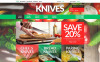 "Tema Magento Responsive #51921 ""Knives Online Store"" New Screenshots BIG"