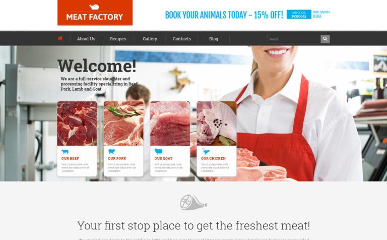 Tema WordPress Flexível para Sites de Loja de comida №51992