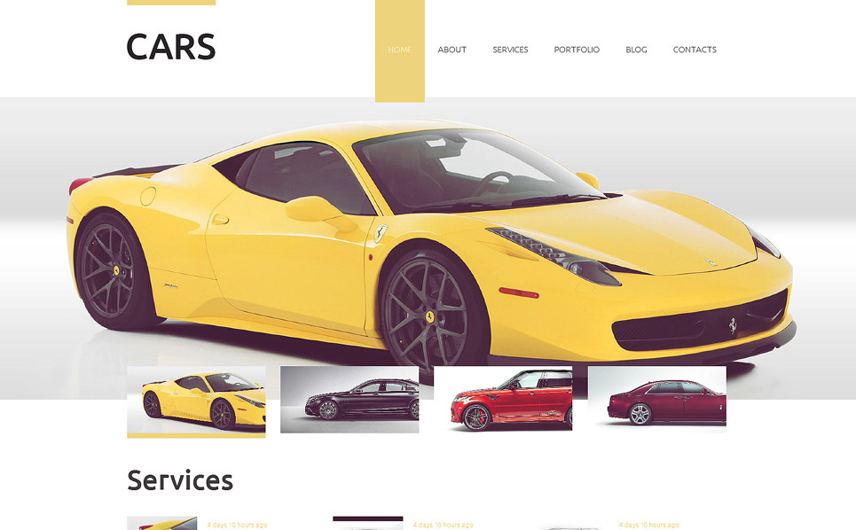Template Drupal Responsive #51949 per Un Sito di Auto New Screenshots BIG