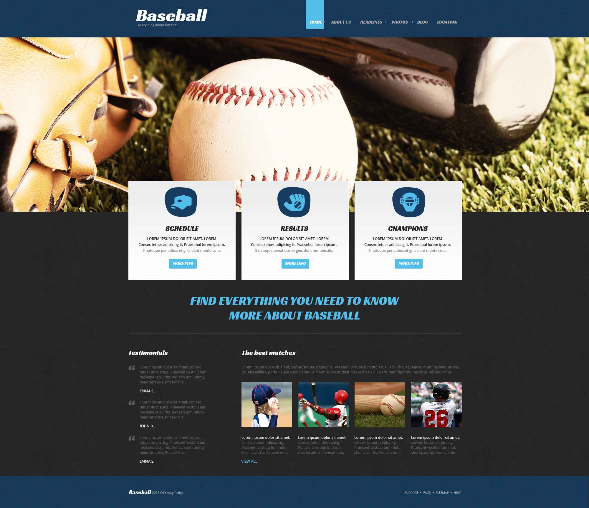 Template Joomla Flexível para Sites de Basebol №51979