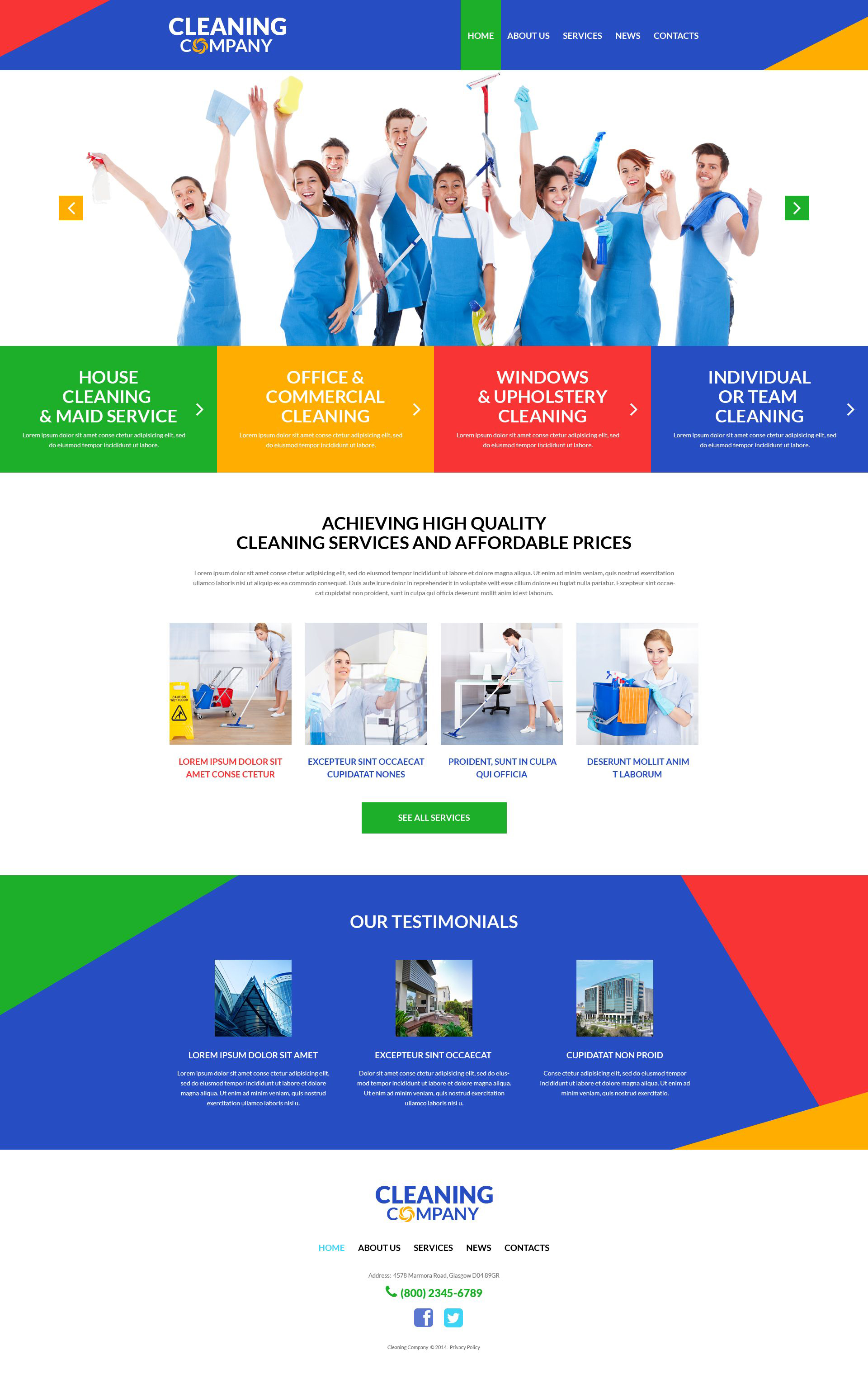 """Template WordPress Responsive #51991 """"Cleaning Services"""" - screenshot"""