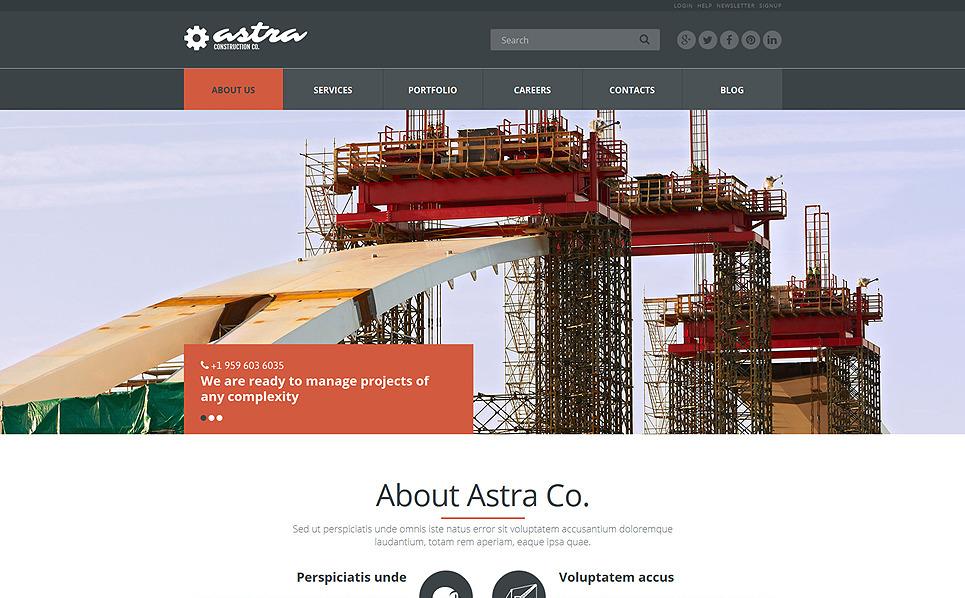 Th me joomla adaptatif 51953 pour entreprise de construction for Entreprise de construction