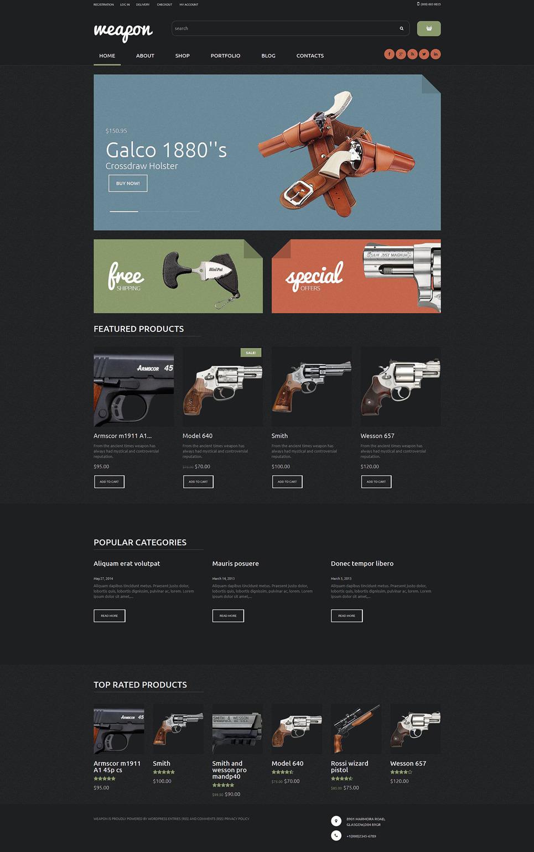 Weapon Shop WooCommerce Theme New Screenshots BIG