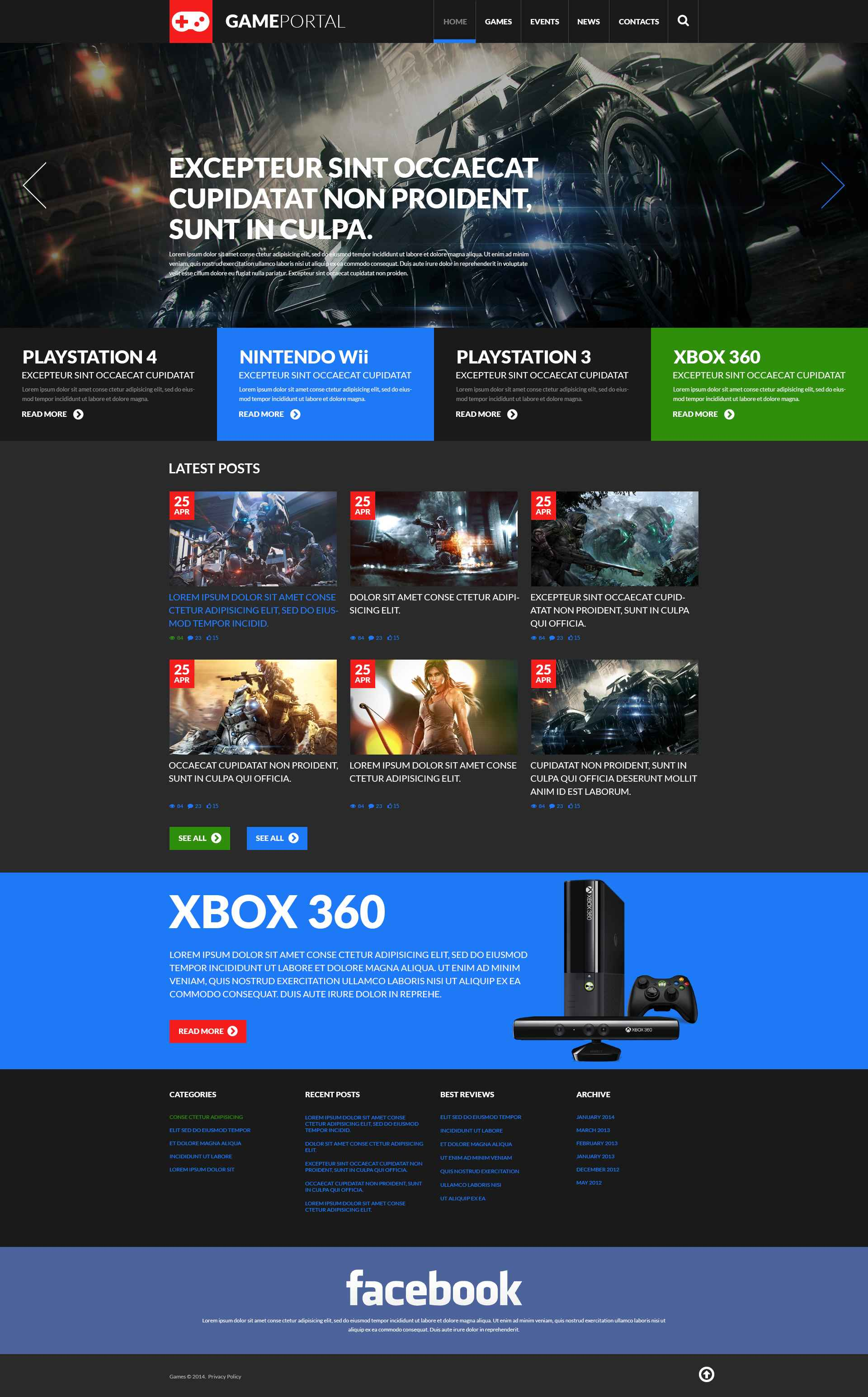 "WordPress Theme namens ""Gaming-Fangemeinde"" #51908 - Screenshot"
