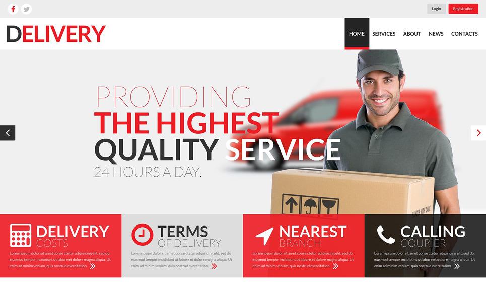 Template Web Flexível para Sites de Serviços de Frete №52000 New Screenshots BIG