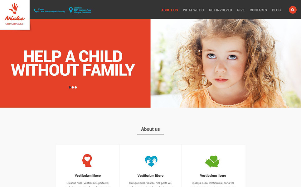 Responsive Website template over Liefdadigheid van Kinderen New Screenshots BIG