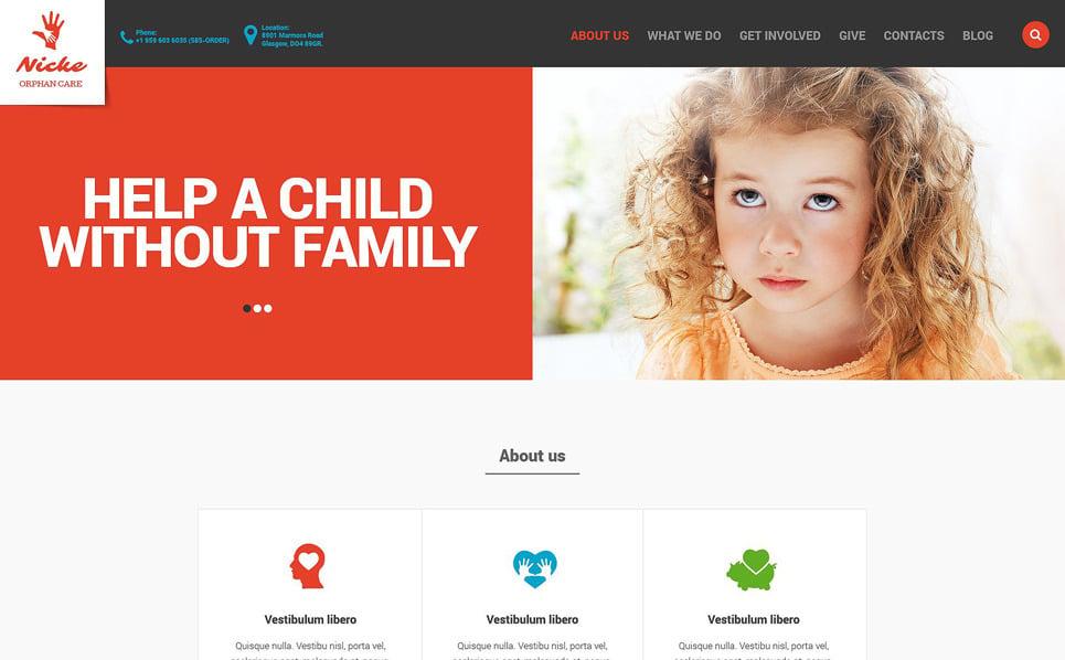Reszponzív Gyermekmentő alapítványok Weboldal sablon New Screenshots BIG