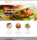 Cafe & Restaurant Website  Template 52005