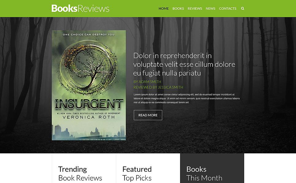 Reszponzív Könyvkritikák Weboldal sablon New Screenshots BIG