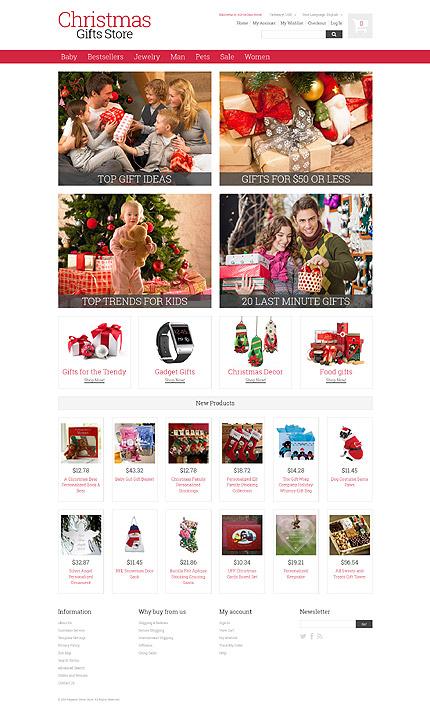 Magento Theme/Template 52015 Main Page Screenshot