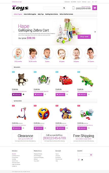 Magento Theme/Template 52023 Main Page Screenshot