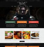 Cafe & Restaurant Joomla  Template 52030