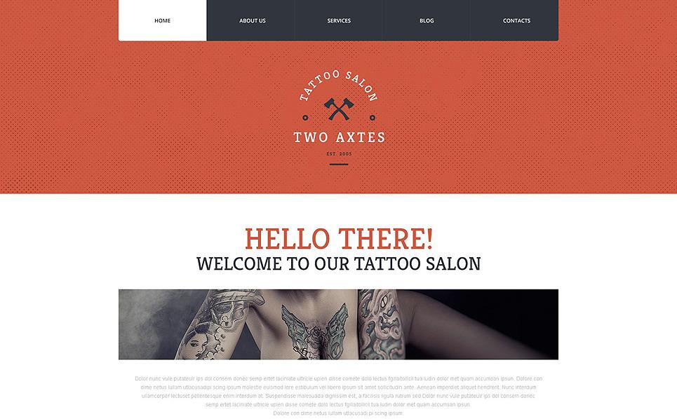 Reszponzív Tetováló szalonok WordPress sablon New Screenshots BIG