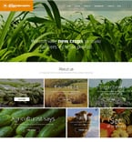 Agriculture Website  Template 52043