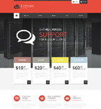 Web Hosting Website  Template 52044