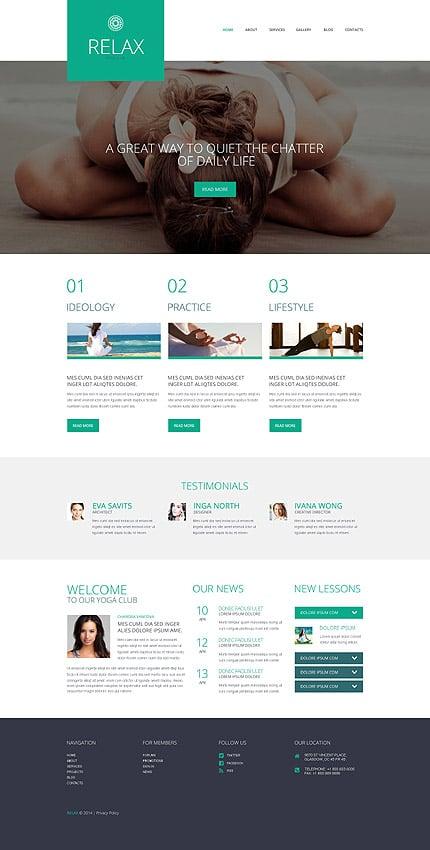 WordPress Theme/Template 52053 Main Page Screenshot