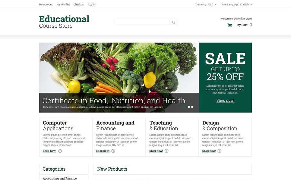 Reszponzív Oktatási  Magento sablon New Screenshots BIG